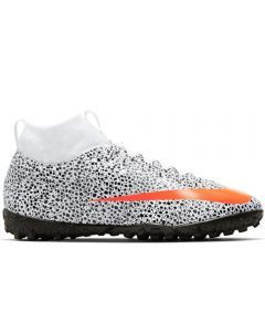 Nike Youth Mercurial Superfly 7 Academy CR7 TF (White/Total Orange/Black)