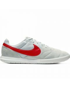 Nike Premier II Sala IC Indoor Soccer Shoes (Pure Platinum/University Red/White)