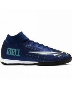 Nike Superfly 7 Academy MDS IC Indoor Soccer Shoes (Blue Void/Barley Volt/White/Black)