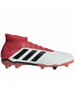 Adidas Predator 18.1 Youth FG Soccer Cleats (White/Core Black/Real Coral)