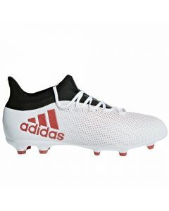 Adidas X 17.1 Youth FG Soccer Cleats (Grey/Real Coral/Core Black)
