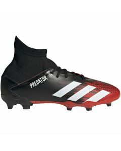 Adidas Youth Predator 20.3 FG Soccer Cleats (Core Black/White/Active Red)