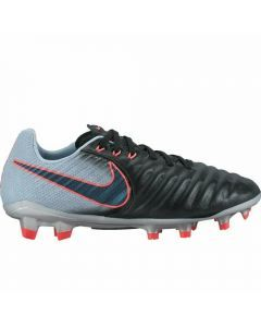 Nike Youth Tiempo Legend VII FG Soccer Cleats (Black/Armory Navy/Light Armory Blue)