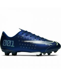 Nike Youth Vapor 13 Academy MDS MG Soccer Cleats (Blue Void/Barley Volt/White/Black)