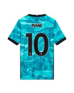Nike Youth Liverpool 'MANE 10' Away Jersey '20-'21 (Hyper Turquoise/Black)