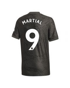 Adidas Youth Manchester United 'MARTIAL 9' Away Jersey '20-'21 (Legacy Black/Green)