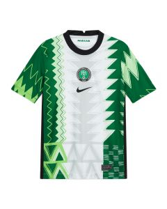 Nike Nigeria '20-'21 Home Youth Soccer Jersey (White/Black)