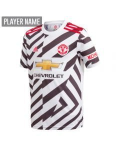 Adidas Youth Manchester United Third Jersey '20-'21 (White/Black)