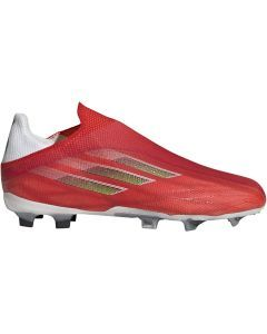 Adidas X Speedflow+ FG Youth Soccer Cleats (Red/Core Black/Solar Red)