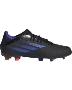 Adidas X Speedflow.3 Youth FG Soccer Cleats (Core Black/Sonic Ink/Solar Yellow)