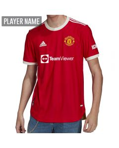 Adidas Manchester United Home Authentic Soccer Jersey '21-'22 (Real Red)