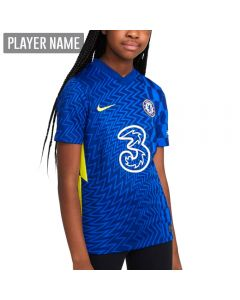 Nike Chelsea Home Youth Soccer Jersey '21-'22 (Lyon Blue/Opti Yellow)