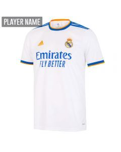 Adidas Real Madrid Home Youth Soccer Jersey '21-'22 (White)