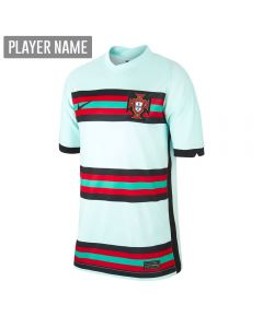 Nike Portugal '20-'21 Stadium Away Youth Soccer Jersey (Teal Tint/Black)