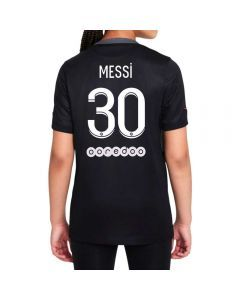 Nike PSG 'MESSI 30' Third Youth Soccer Jersey '21-'22